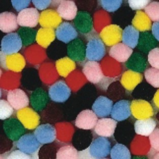 Color Splash!® Pom Pom Assortment, 1/2