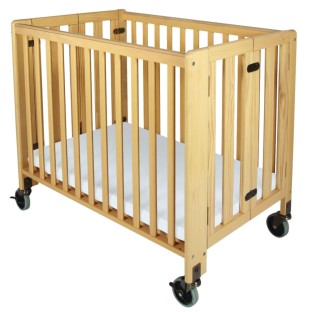 Hideaway Compact Folding Wood Crib - Image 1 of 2