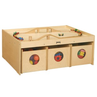 Activity Table with Storage Bins - Image 1 of 1