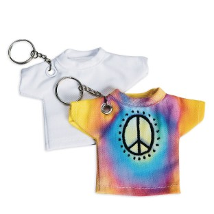 Color-Me™ T-Shirt Keychains (Pack of 12) - Image 1 of 2