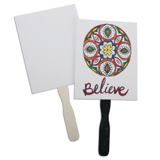 Color-Me™ Paddle Fans (Pack of 24) - Image 1 of 5