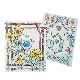 Paint-a-Dot™ Bird Scenes Craft Kit - Image 1 of 3