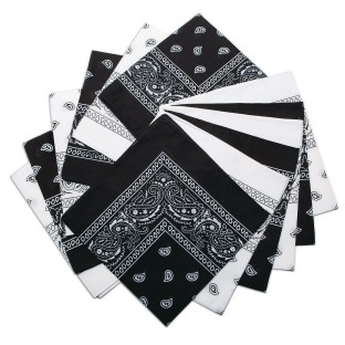 Bandanas - Black/White Western (Pack of 12) - Image 1 of 2