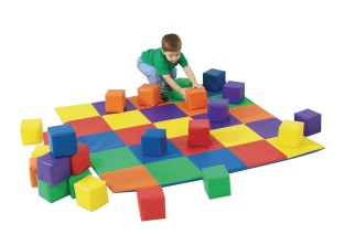 Joey's Matching Mat & Blocks Set - Image 1 of 1