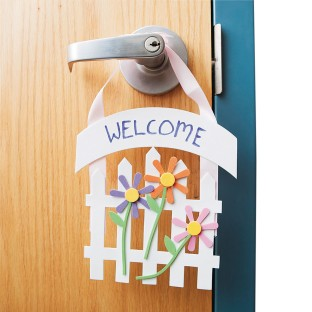 Welcome Door Hanger Craft Kit (Pack of 12) - Image 1 of 1