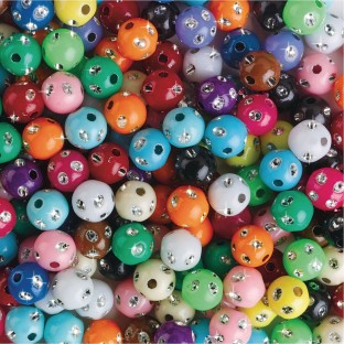 Color Splash!® Shining Dot Bead Assortment - Image 1 of 1
