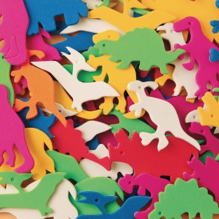Color Splash!® Foam Shapes with Adhesive - Dinosaurs - Image 1 of 1