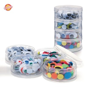 Assorted Wiggly Eyes with Container - Image 1 of 1
