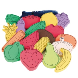 Flat Foam Foods, Fruit and Veggies (Set of 18) - Image 1 of 4