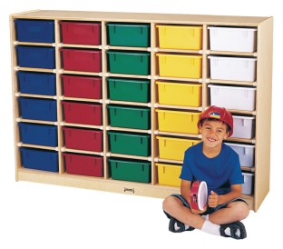 30 Tub Storage with Color Tubs - Image 1 of 1