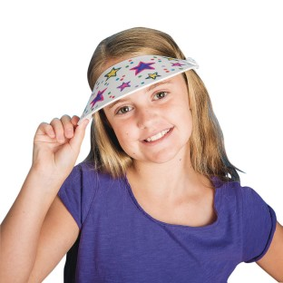 Color-Me™ Foam Visors (Pack of 12) - Image 1 of 2
