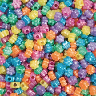 Color Splash!® Pony Bead Assortment, Flowers - Image 1 of 1