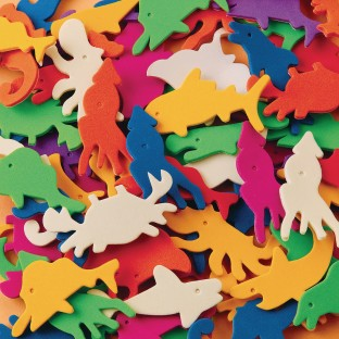 Color Splash!® Sealife Foam Shapes with Adhesive - Image 1 of 1