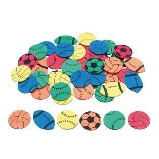Color Splash!® Sports Shapes with Adhesive - Image 1 of 1