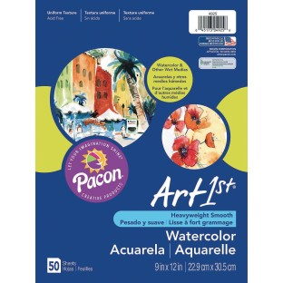 "Pacon® Watercolor Paper, 9"" x 12"" (Pack of 50) - Image 1 of 2"