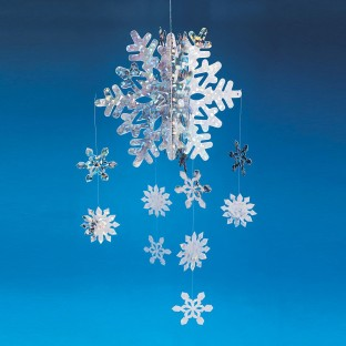 3-D Snowflake Mobile - Image 1 of 1