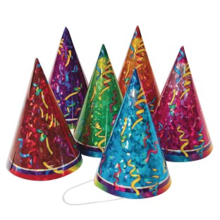 Prismatic Birthday Party Hats - Image 1 of 1