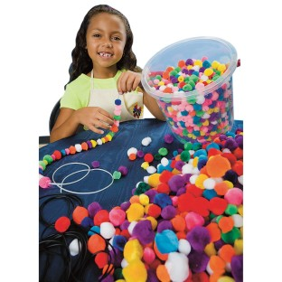Color Splash!® Pom Pom Bead Bucket - Image 1 of 2