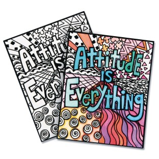 Attitude Is Everything Velvet Art Posters (Pack of 24) - Image 1 of 1