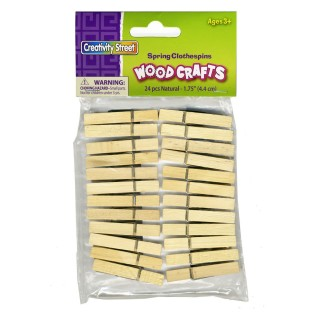 Spring Clothespins 1-3/4IN (Pack of 24) - Image 1 of 1
