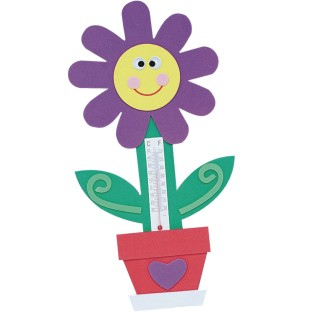 Flower Thermometer Magnet Craft Kit (Pack of 12) - Image 1 of 2