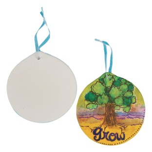 Color-Me™ Ceramic Bisque Circle Shape - Image 1 of 1