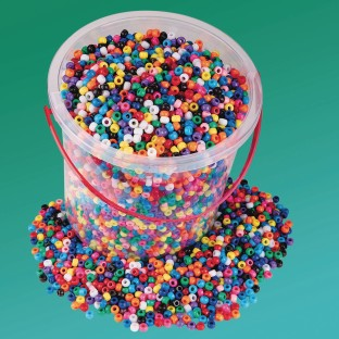 Color Splash!® Pony Bead Bucket - Image 1 of 2