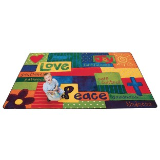 Spiritual Fruit Painted Rug - Image 1 of 1