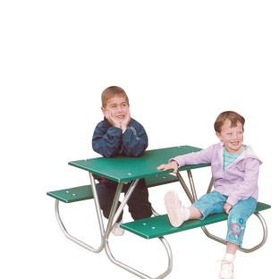 Kids' Picnic Table, Green - Image 1 of 1