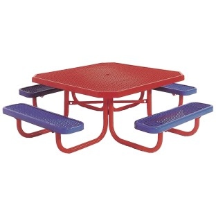 Kids Coated Steel Square Picnic Table - Image 1 of 1