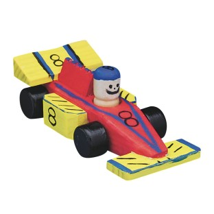 Wooden Race Cars Craft Kit (Pack of 12) - Image 1 of 2