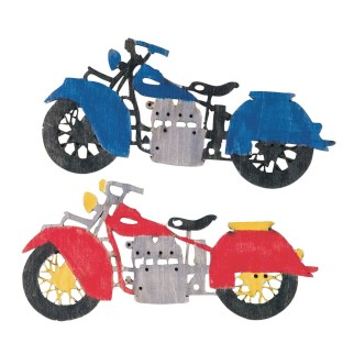 Wood Motorcycle Craft Kit (Pack of 12) - Image 1 of 2