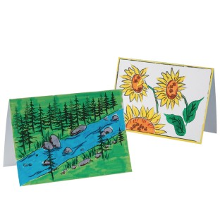 Send a Note Greeting Cards Craft Kit (Pack of 30) - Image 1 of 2