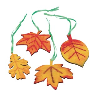 Wood Leaves Craft Kit (Pack of 48) - Image 1 of 2