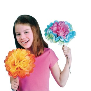 Jumbo Tissue Flower Craft Kit (Pack of 84) - Image 1 of 2