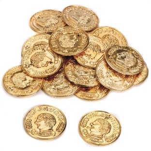 Gold Coins (Pack of 144) - Image 1 of 1
