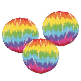 Tie-Dyed Paper Lanterns (Pack of 3) - Image 1 of 1
