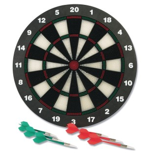 Dartboard With Soft Tip Darts - Image 1 of 2