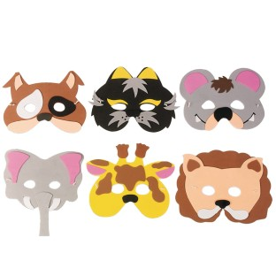 Foam Animal Mask Kit (Pack of 24) - Image 1 of 1