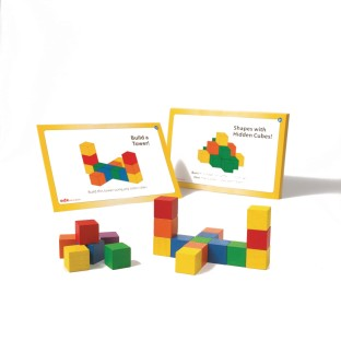 Colored Wooden Counting Cubes - Image 1 of 1