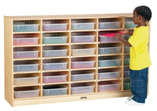 30 Paper-Tray Cubbie with Color Trays - Image 1 of 1