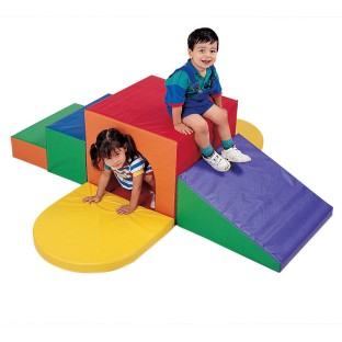 Children's Factory® Bright-Colored Soft Climb-Up Tunnel - Image 1 of 4