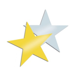 Decorative Foil Stars (Pack of 24) - Image 1 of 1