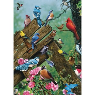 Wildbird Gathering 35-Piece Tray Puzzle - Image 1 of 1