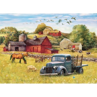 Blue Truck Farm 35-Piece Tray Puzzle - Image 1 of 1
