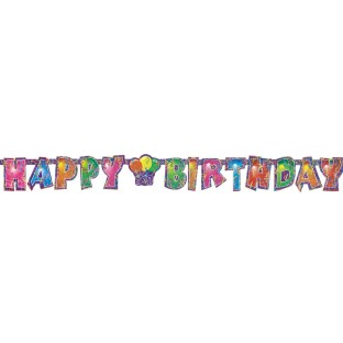Happy Birthday Prism Banner - Image 1 of 1
