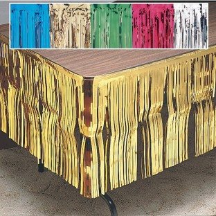 Metallic Fringe Table Skirts - Image 1 of 1