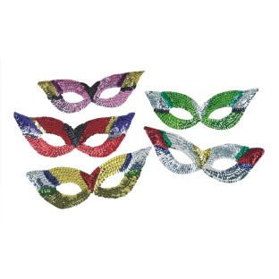 Sequin Party Masks (Pack of 12) - Image 1 of 1