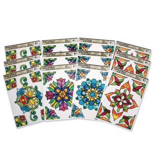 Rectangle Stained Glass Window Clings (Pack of 12) - Image 1 of 2