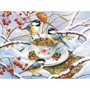 Chickadee Tea Easy Handling Puzzle - Image 1 of 1